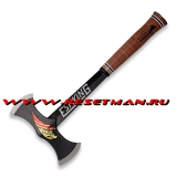 Black Eagle Double Bit Axe, leather