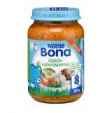 Bona индейка с рисом и овощами, с 8 мес. 200г / Kasvis-kalkkunavuoka